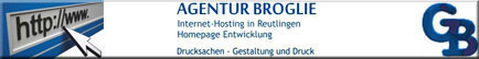 AGENTUR BROGLIE - Internet Hosting in Reutlingen